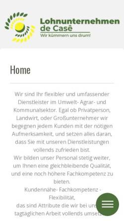 Vorschau der mobilen Webseite www.lu-de-case.de, Lohnunternehmen de Casê - Inh. Roman Käss