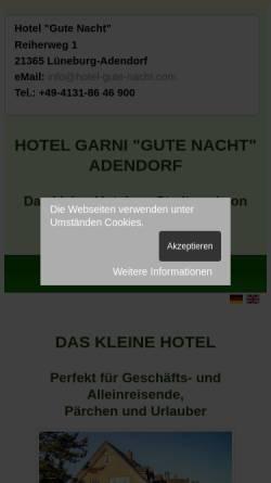 Vorschau der mobilen Webseite www.hotel-gute-nacht.com, Hotel Gute Nacht