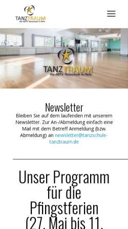 Vorschau der mobilen Webseite tanzschule-tanztraum.de, Tanzschule Tanztraum