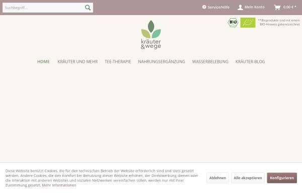 Vorschau von www.kraeuter-wege.de, Kräuter & Wege GmbH