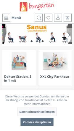 Vorschau der mobilen Webseite www.bungarten-shop.de, Bungarten GmbH