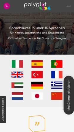 Vorschau der mobilen Webseite www.polyglot-kids.com, polyglot KIDS