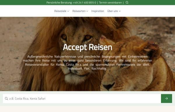 Vorschau von www.accept-reisen.de, Accept Reisen GmbH & Co. KG