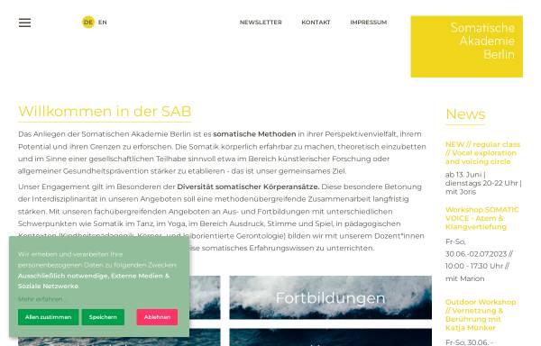 Vorschau von www.somatische-akademie.de, Somatische Akademie Berlin GmbH