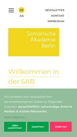 Vorschau der mobilen Webseite www.somatische-akademie.de, Somatische Akademie Berlin GmbH