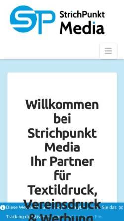 Vorschau der mobilen Webseite www.strichpunkt-media.de, Strichpunkt Media - Inh. Christian Willsch