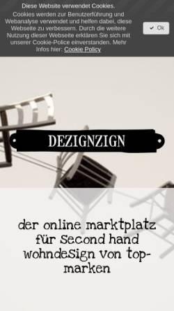 Vorschau der mobilen Webseite www.dezignzign.com, dezignzign