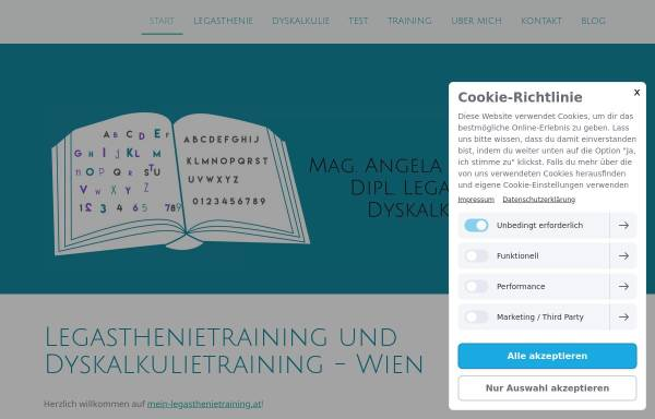 Vorschau von www.mein-legasthenietraining.at, Mag. Angela Kath-Zierhut - Legasthenietraining & Dyskalkulietraining