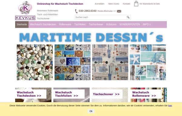 Vorschau von www.wachstuch-kevkus.de, KEVKUS