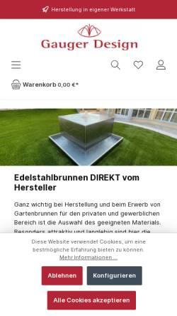 Vorschau der mobilen Webseite www.gartenbrunnen.net, Gauger-Design - Inh. Sebastian Gauger