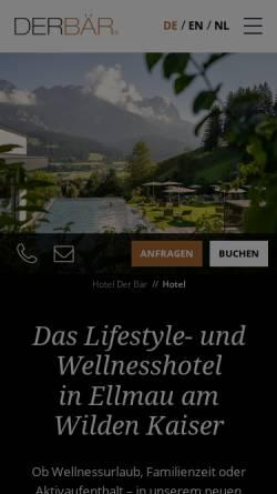 Vorschau der mobilen Webseite www.hotelbaer.com, Hotel