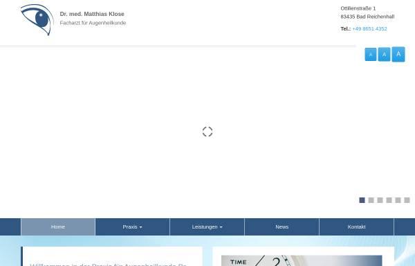 Vorschau von www.augenarzt-bad-reichenhall.de, Augenarztpraxis Dr. med. Matthias Klose