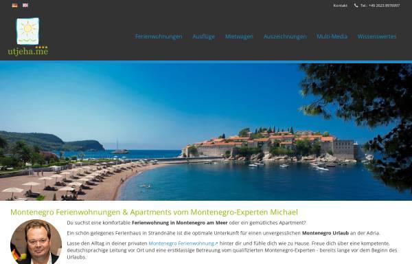 Vorschau von utjeha.me, Montenegro Ferienwohnungen UTJEHA