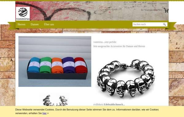 Vorschau von www.vonmirus.de, Onlinehandel Mirus