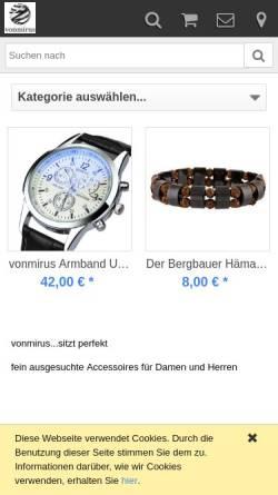 Vorschau der mobilen Webseite www.vonmirus.de, Onlinehandel Mirus