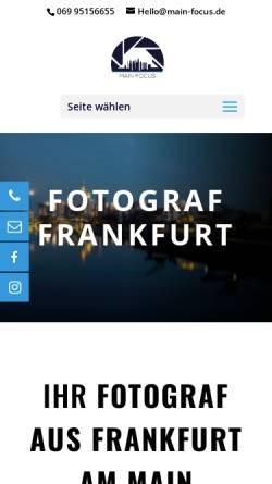Vorschau der mobilen Webseite main-focus.de, Main Focus Fotografie