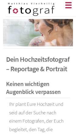 Vorschau der mobilen Webseite mvfotograf.de, Fotograf Matthias Vierheilig
