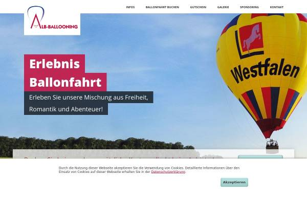Vorschau von www.alb-ballooning.de, Alb-Ballooning