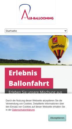 Vorschau der mobilen Webseite www.alb-ballooning.de, Alb-Ballooning