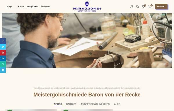 Vorschau von goldschmiede-recke.de, Meistergoldschmiede v. d. Recke