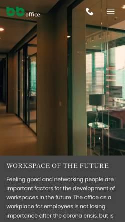 Vorschau der mobilen Webseite www.bb-trennwaende.de, b+b GmbH