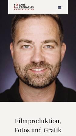 Vorschau der mobilen Webseite larszacharias.de, Lars Zacharias Video&Audio Design GmbH