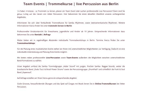 Vorschau von vetter-percussion.de, Vetter Percussion - Tino Vetter