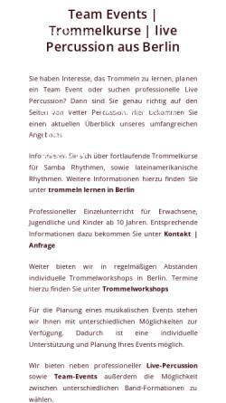 Vorschau der mobilen Webseite vetter-percussion.de, Vetter Percussion - Tino Vetter