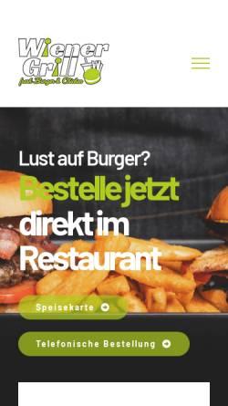Vorschau der mobilen Webseite wiener-grillhaus.de, Wiener Grillhaus