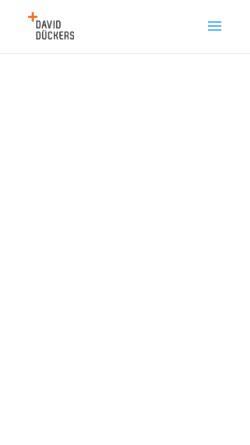 Vorschau der mobilen Webseite daviddueckers.de, Personal Training David Dückers