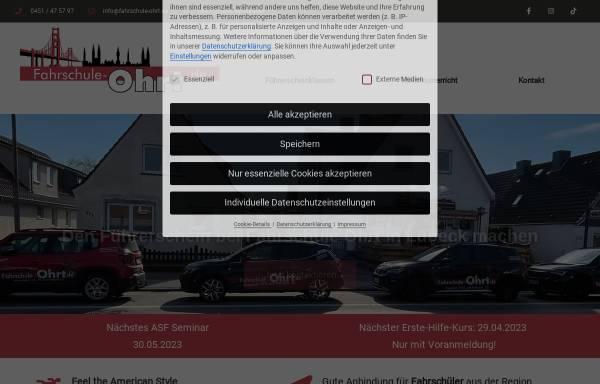 Vorschau von www.fahrschule-ohrt.de, Fahrschule Ohrt - Inh. Thorsten Scheel