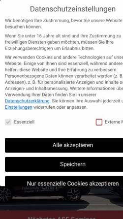 Vorschau der mobilen Webseite www.fahrschule-ohrt.de, Fahrschule Ohrt - Inh. Thorsten Scheel