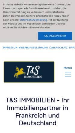 Vorschau der mobilen Webseite www.tus-immobilien.com, T&S IMMOBILIEN
