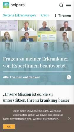Vorschau der mobilen Webseite selpers.com, selpers