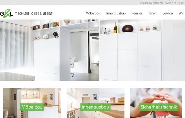 Vorschau von www.giese-liebelt.de, Tischlerei Giese & Liebelt