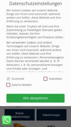 Vorschau der mobilen Webseite www.mersch-reinigungstechnik.de, Mersch GmbH & Co. KG