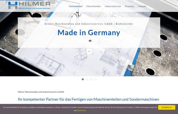 Vorschau von www.hilmermaschinenbau.de, Hilmer Maschinenbau GmbH