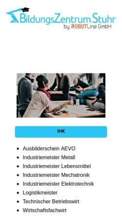 Vorschau der mobilen Webseite www.bz-stuhr.de, BildungsZentrum Stuhr