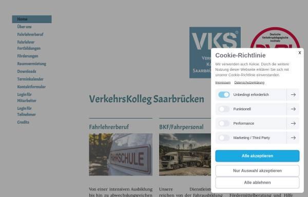 Vorschau von www.verkehrs-kolleg-sb.de, Verkehrs Kolleg SB