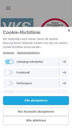 Vorschau der mobilen Webseite www.verkehrs-kolleg-sb.de, Verkehrs Kolleg SB