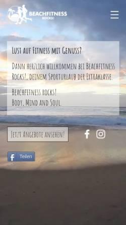 Vorschau der mobilen Webseite www.beachfitness.rocks, Beachfitness GbR