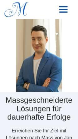 Vorschau der mobilen Webseite janzeyer.ch, Jan Zeyer Hypnose & Coaching