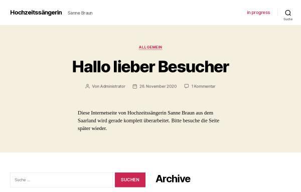 Vorschau von www.hochzeitssaenger-saarland.de, Hochzeitssängerin Susanne Braun