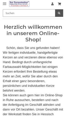 Vorschau der mobilen Webseite www.der-kerzentunker.de, Der Kerzentunker