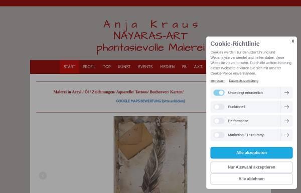 Vorschau von www.anja-kraus-art.com, NAYARAS-ART - Anja Kraus Künstlerin