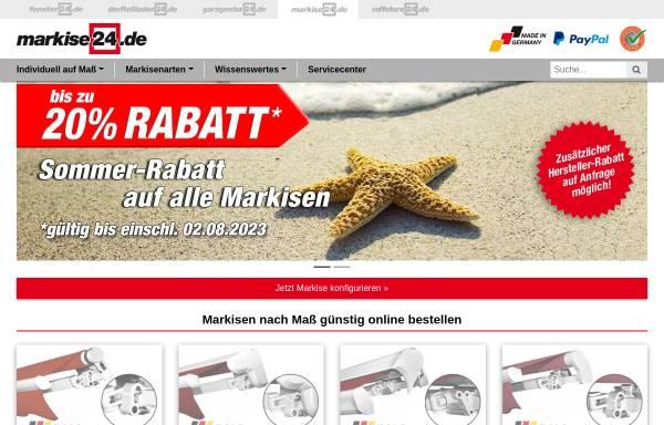 Vorschau von www.markise24.de, markise24 - Inter Vertriebs GmbH