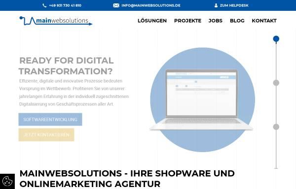 Vorschau von www.mainwebsolutions.de, Mainwebsolutions - WeGi GmbH