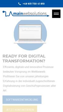 Vorschau der mobilen Webseite www.mainwebsolutions.de, Mainwebsolutions - WeGi GmbH