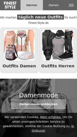 Vorschau der mobilen Webseite finest-style.de, Finest-Style