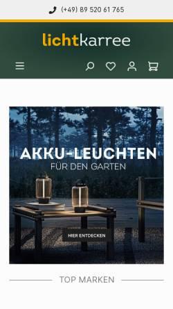 Vorschau der mobilen Webseite lichtkarree.de, Lichtkarree